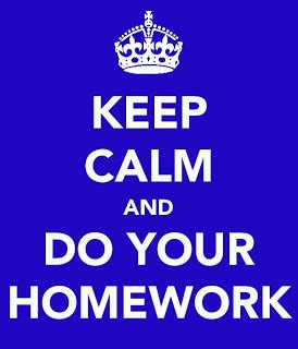 I stayed at home and did my homework